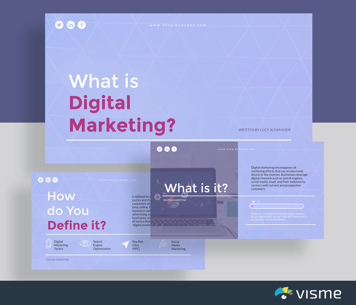 presentation slides - simple marketing presentation template visme