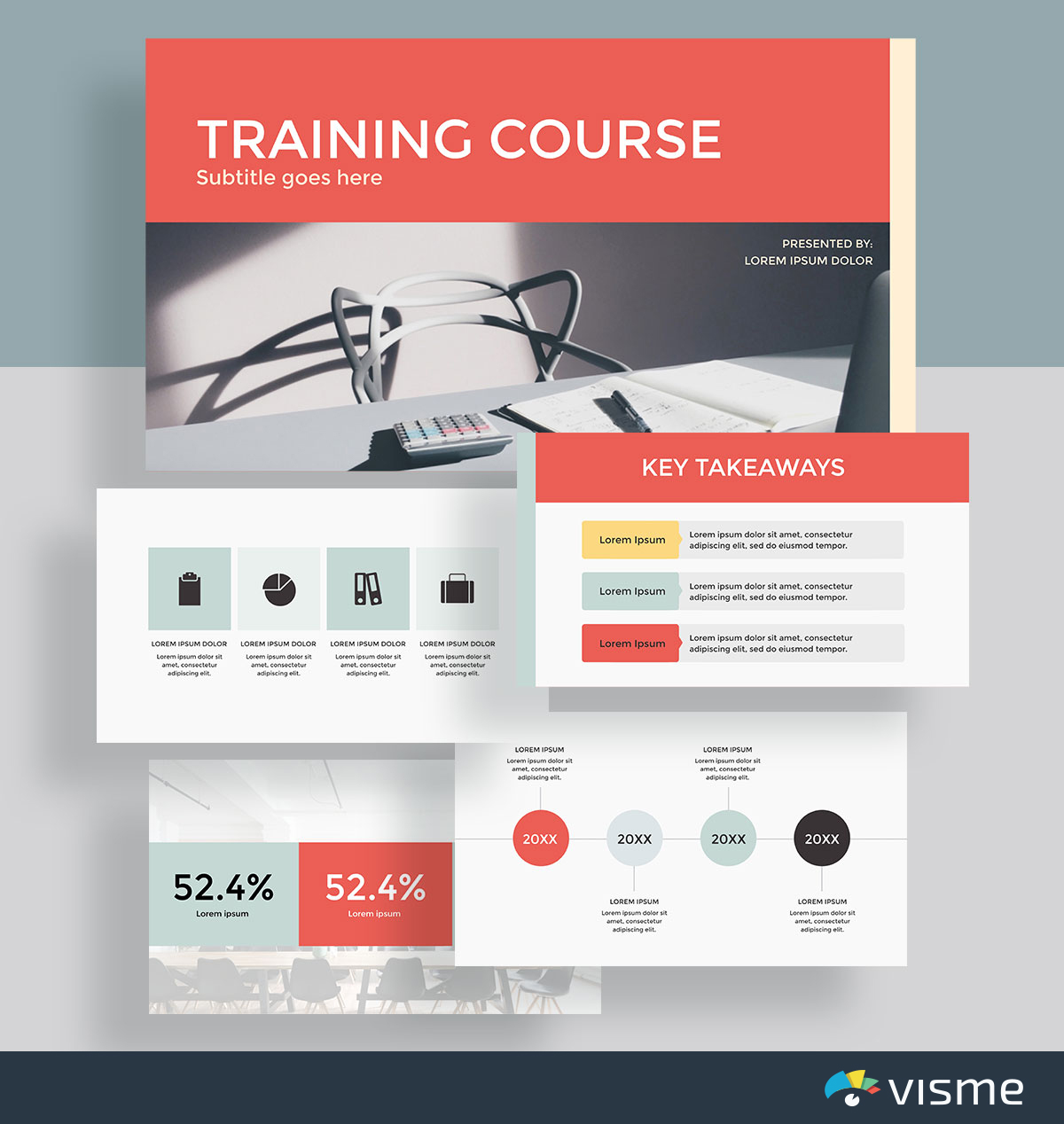 presentation slides - training plan template visme