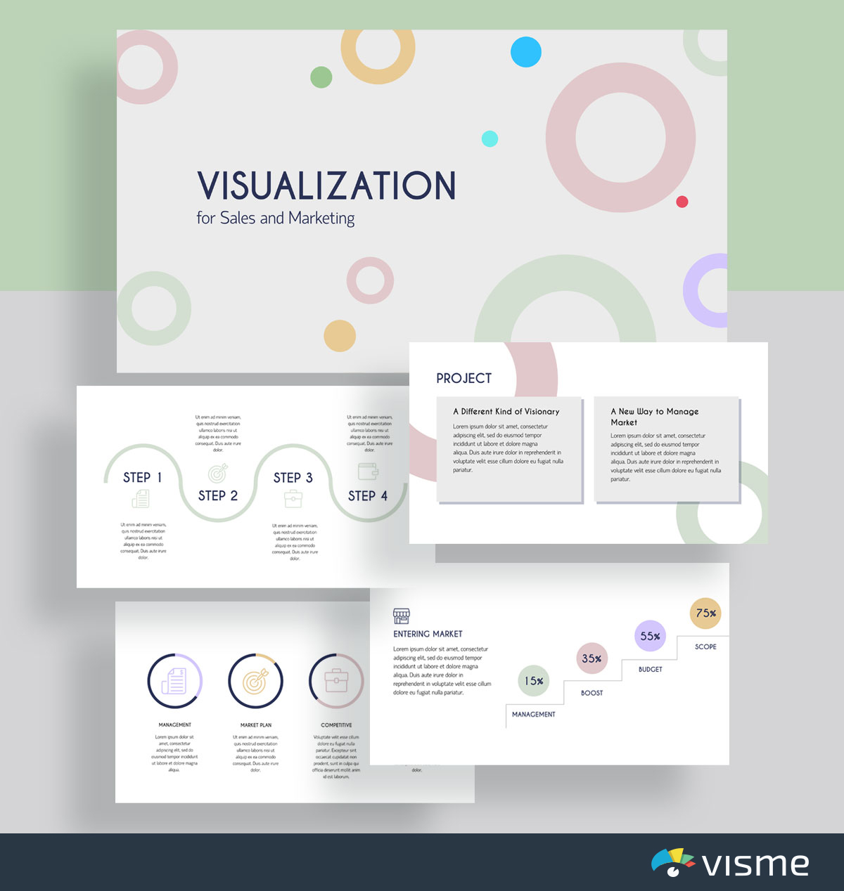 presentation slides - visualization for sales and marketing template visme