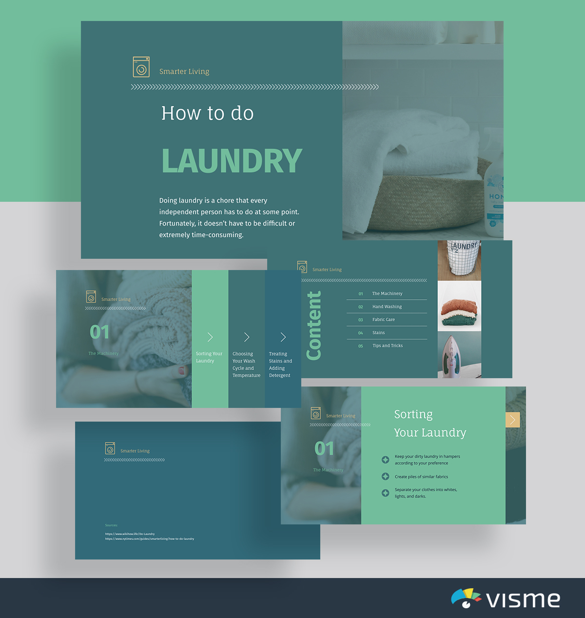presentation topic ideas - how to do laundry life skills presentation template visme