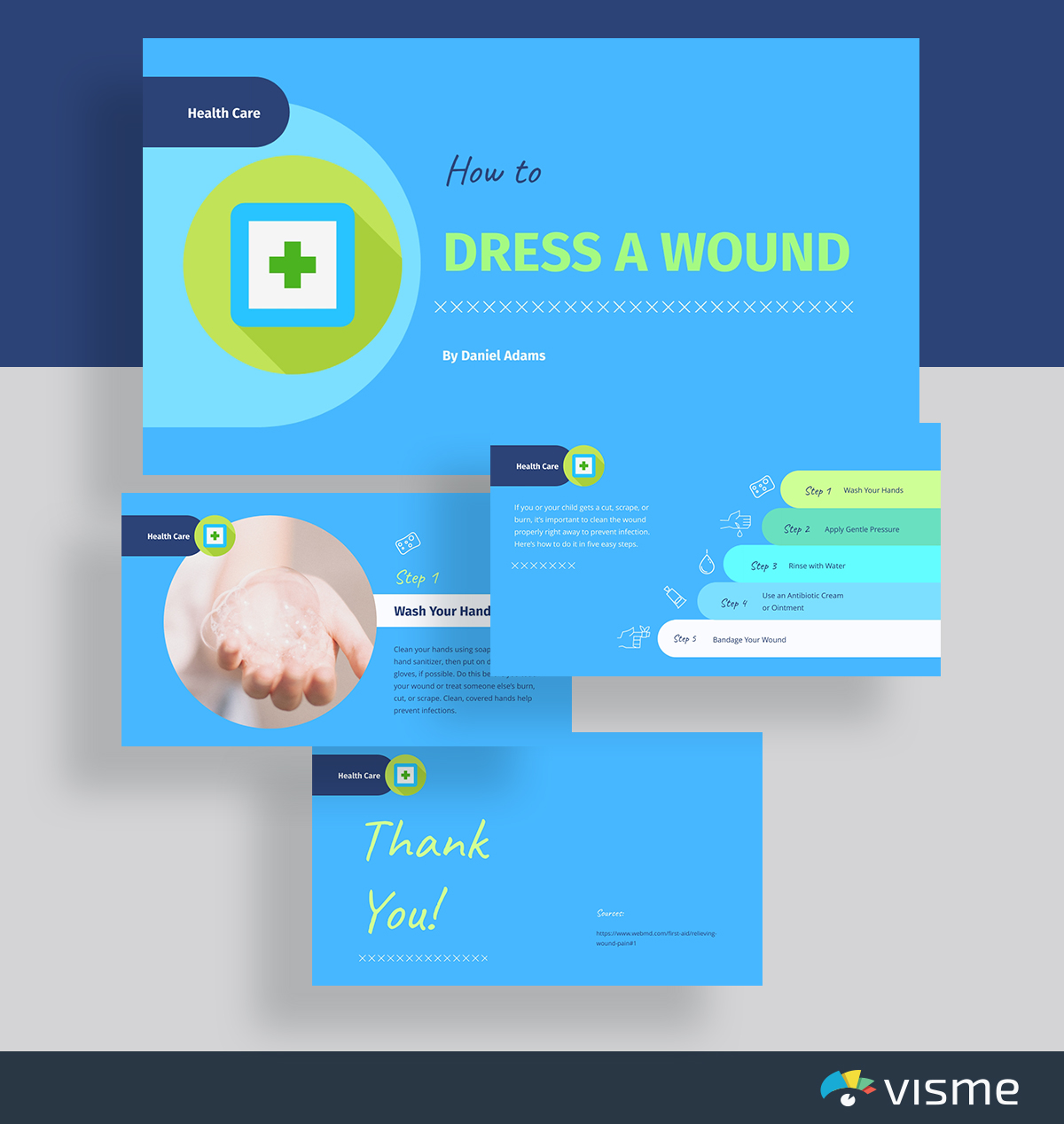 presentation topic ideas - how to dress a wound health presentation template visme