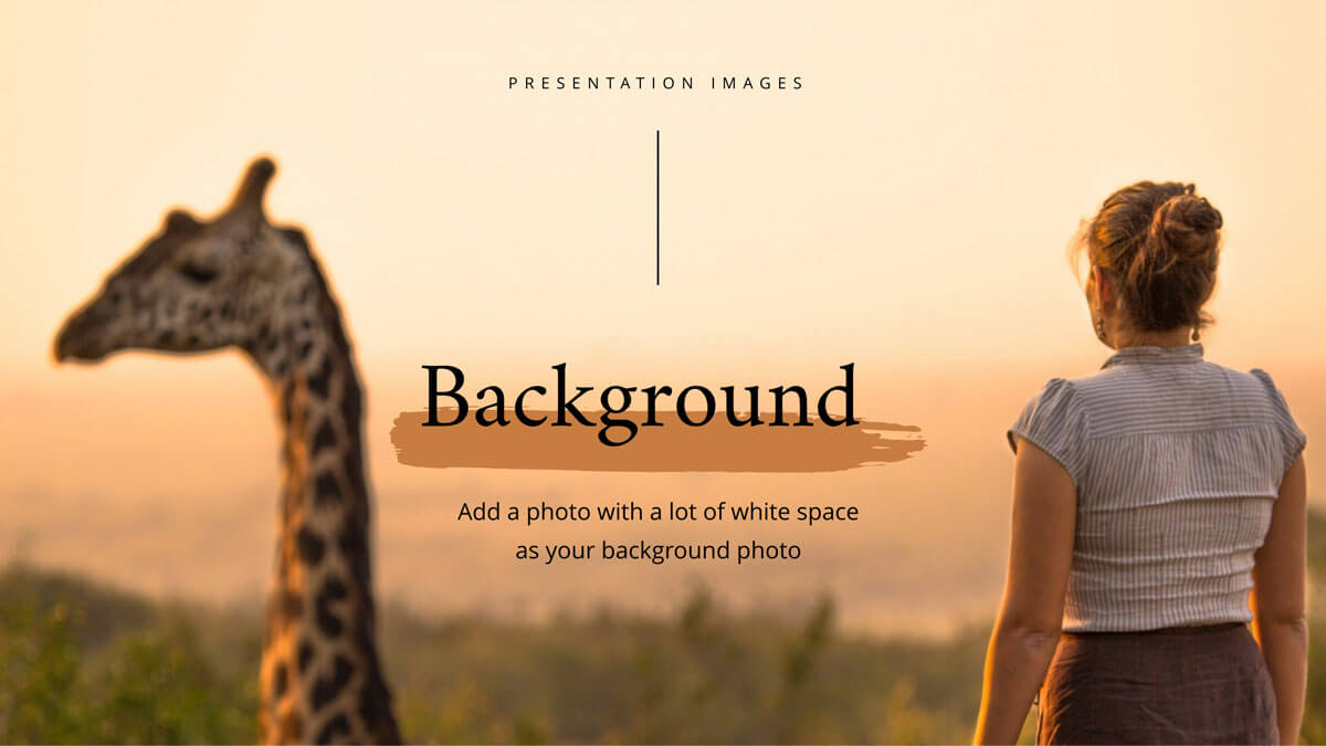 how to use presentation images - background