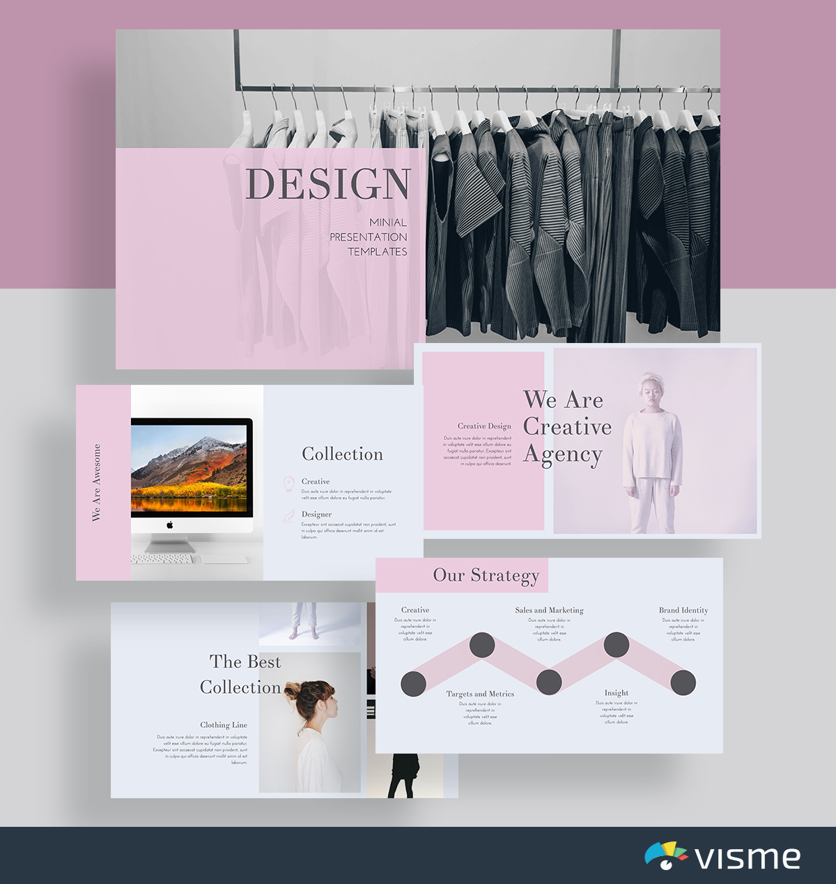 creative presentation layout template - creative agency introduction