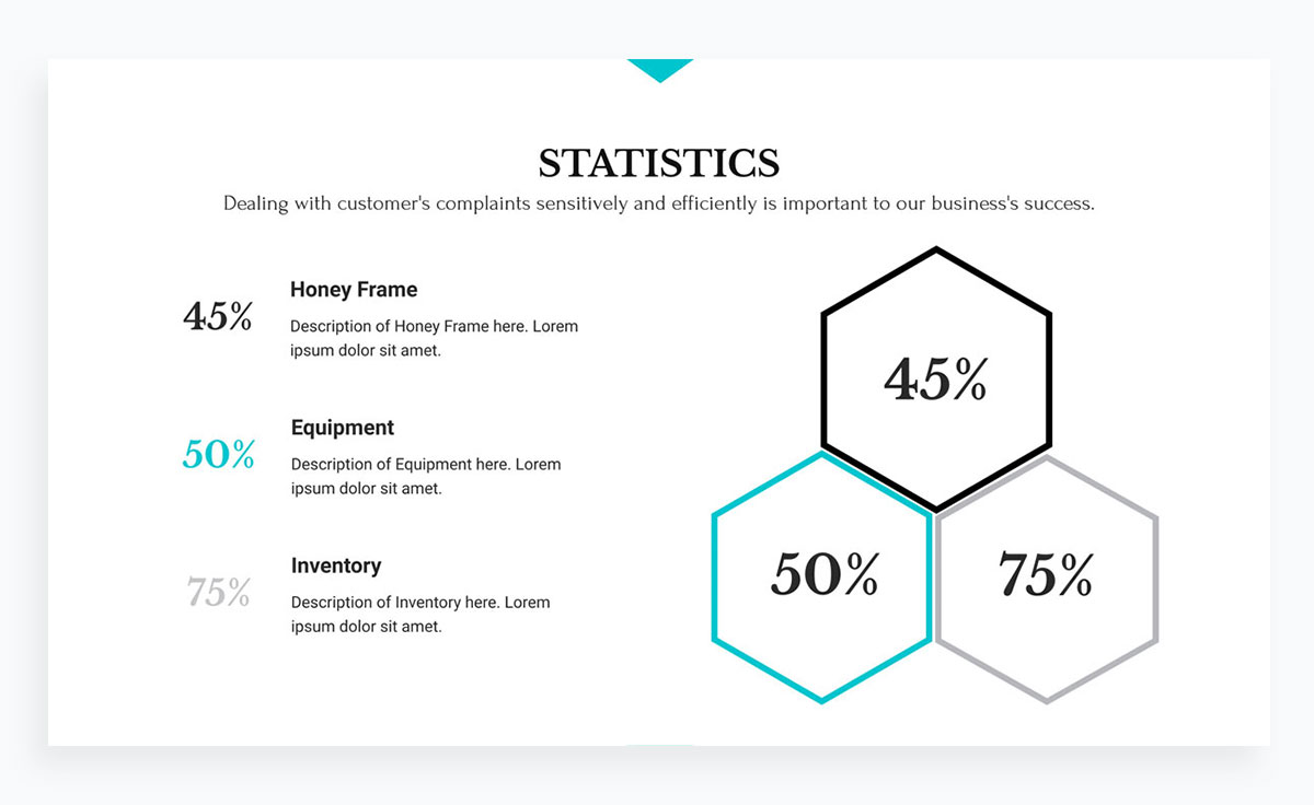 modern presentation layout template - charts and graphs