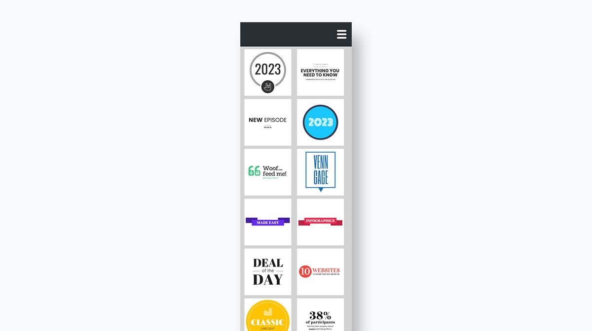 visme vs venngage - design dashboard