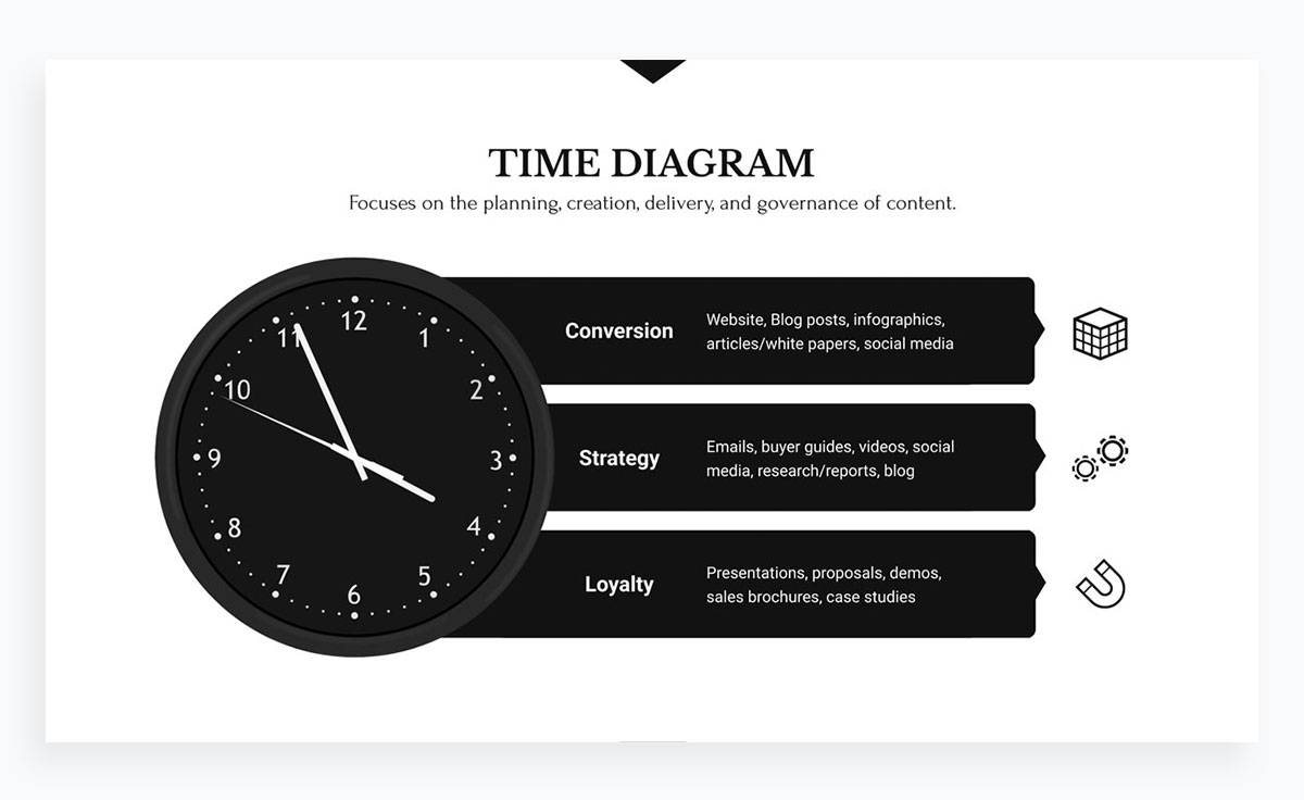 modern presentation layout template - diagrams