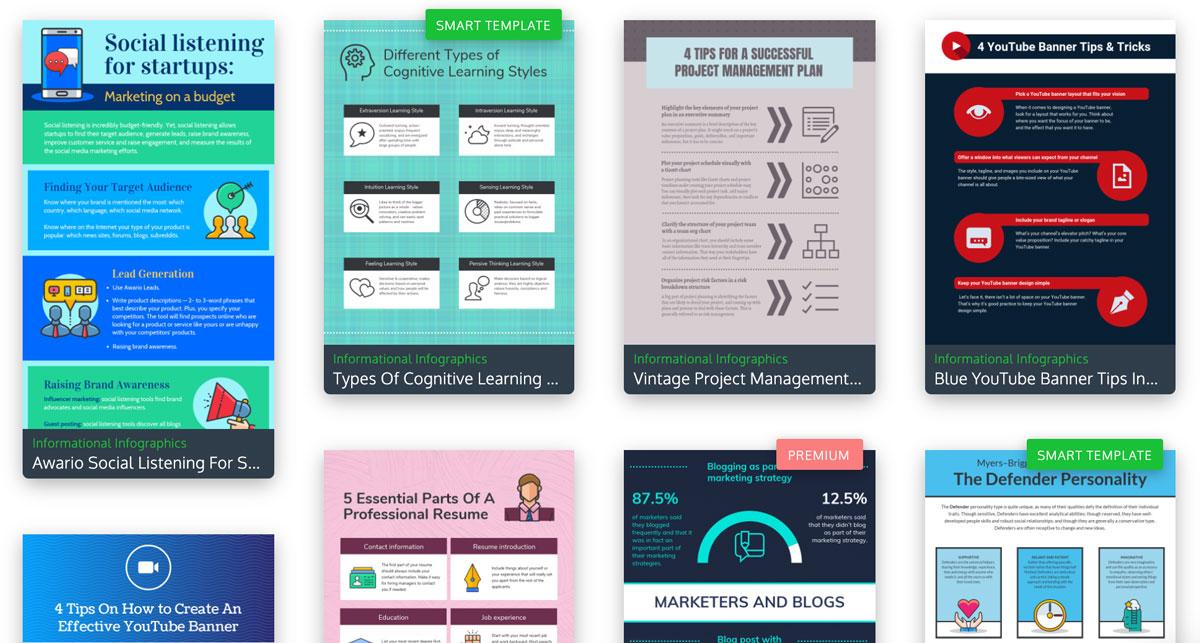 visme vs venngage - infographic templates