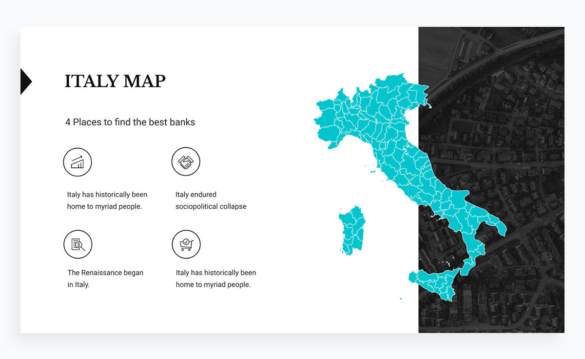 modern presentation layout template - maps