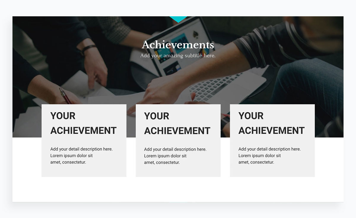 modern presentation layout template - rewards achievements