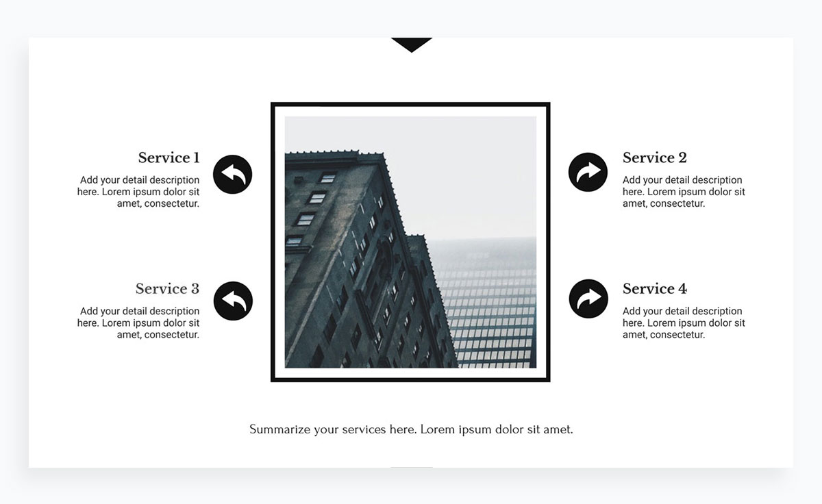 modern presentation layout template - services