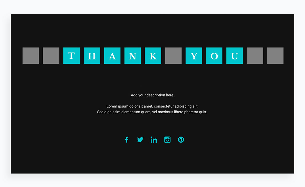 modern presentation layout template - thank you