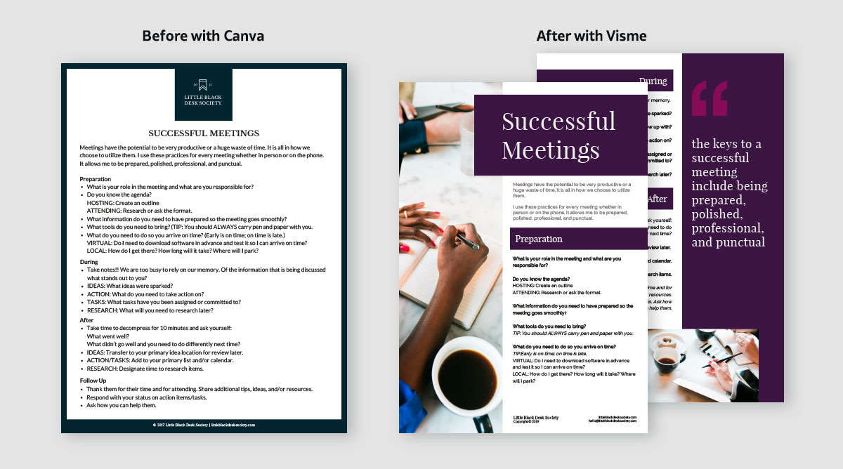 case study - upgrade content by switching to visme