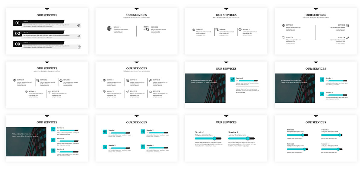 best presentation tools - visme slide layouts 2