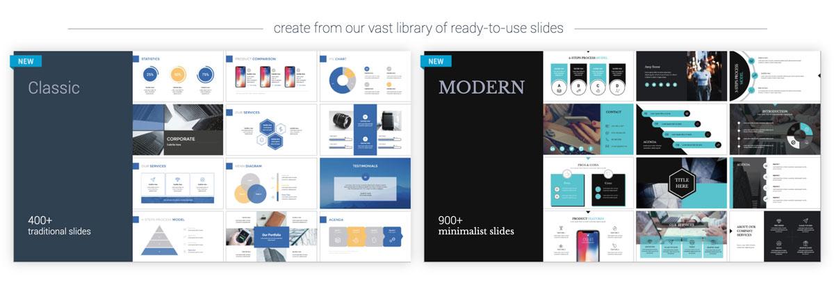 best presentation tools - visme theme and templates