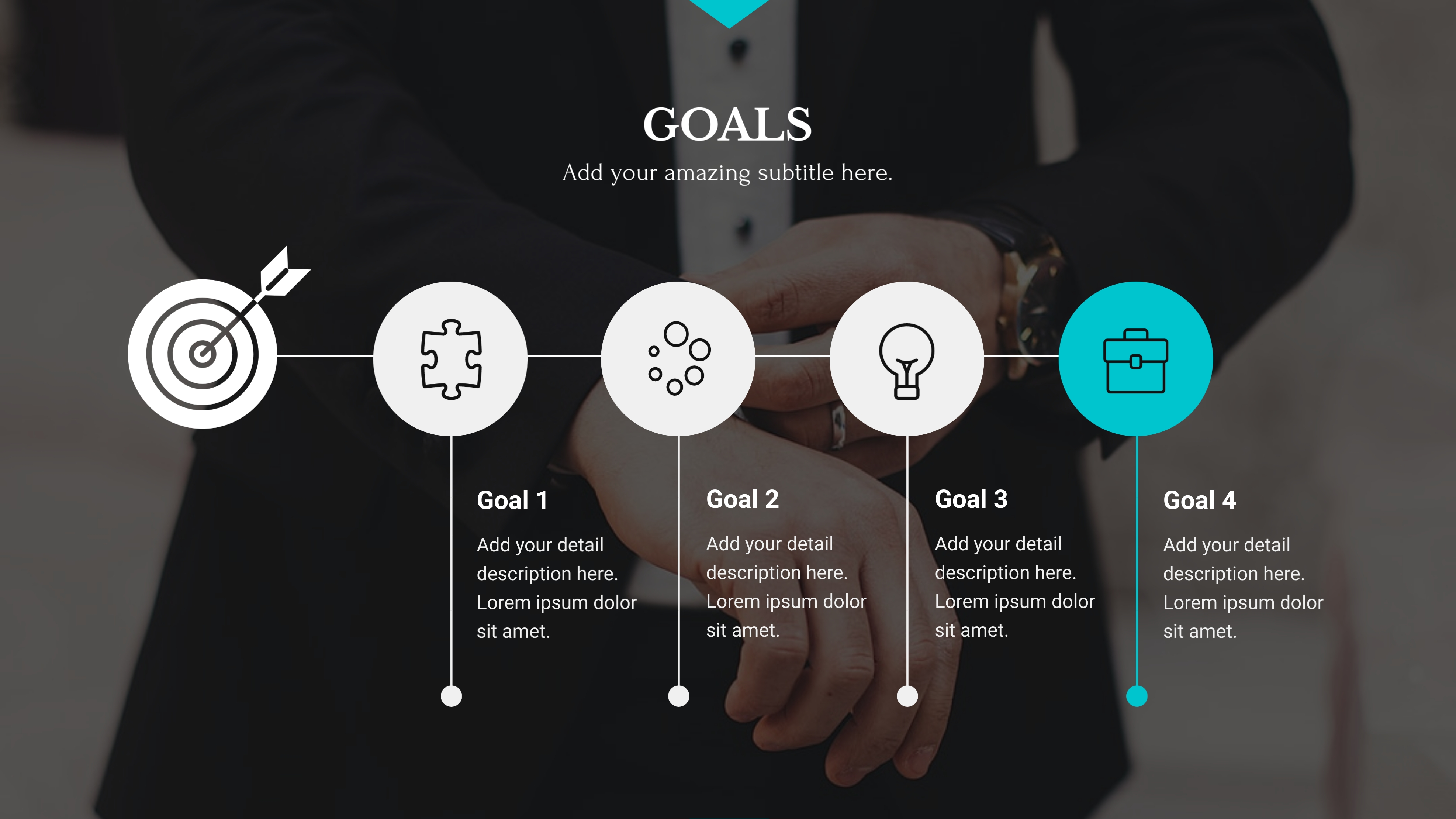 business presentation - set goals slide visme template