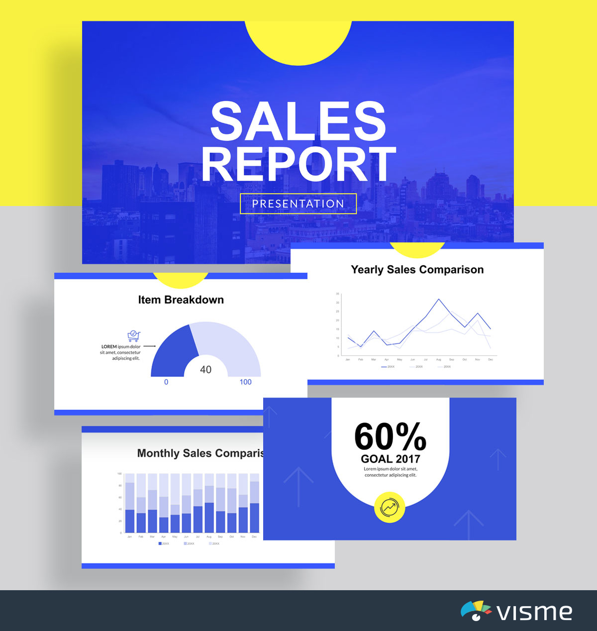 best presentation deck templates - sales report