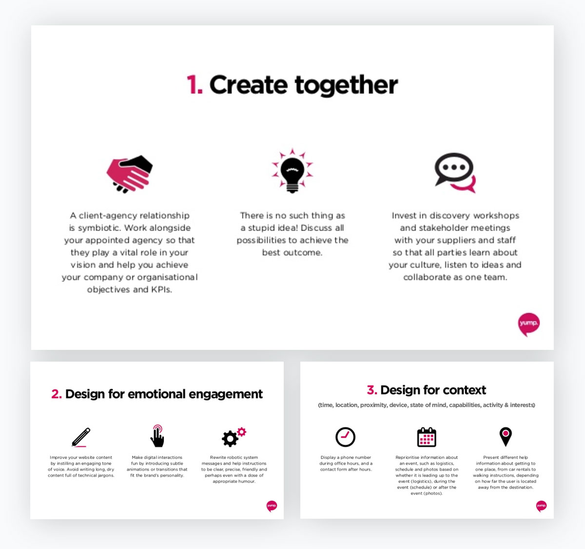 presentation examples - icons