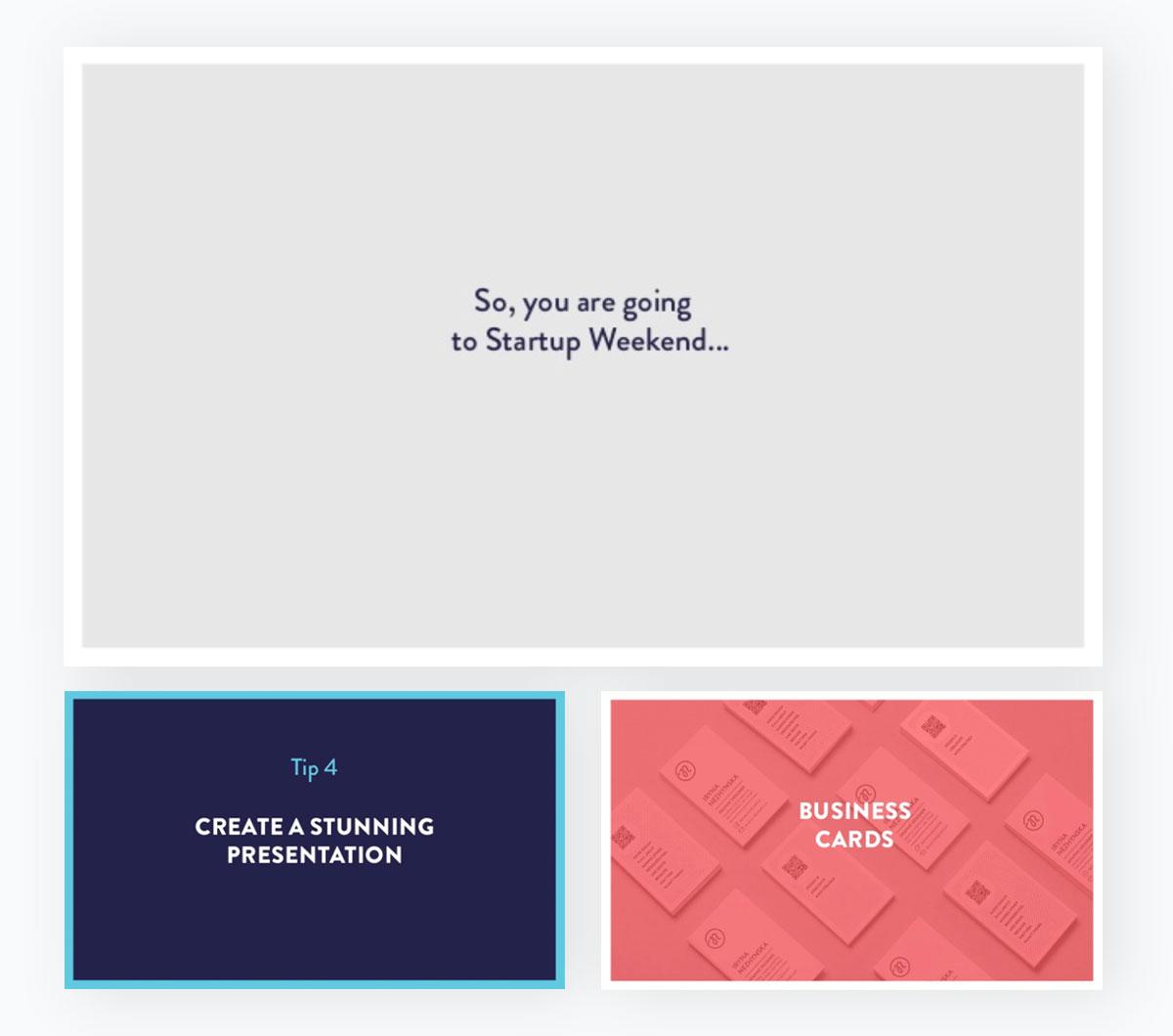 presentation examples - minimalist slides