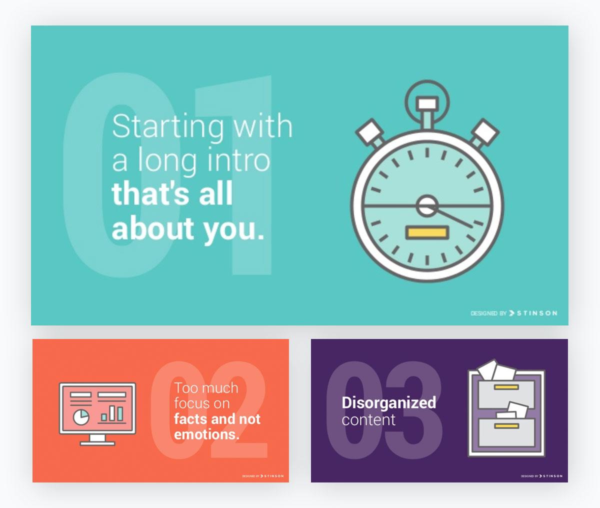 presentation examples - monochromatic slides