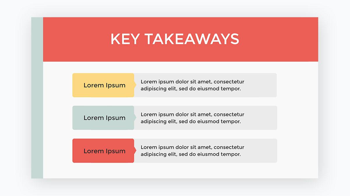 presentation tips - Summarize