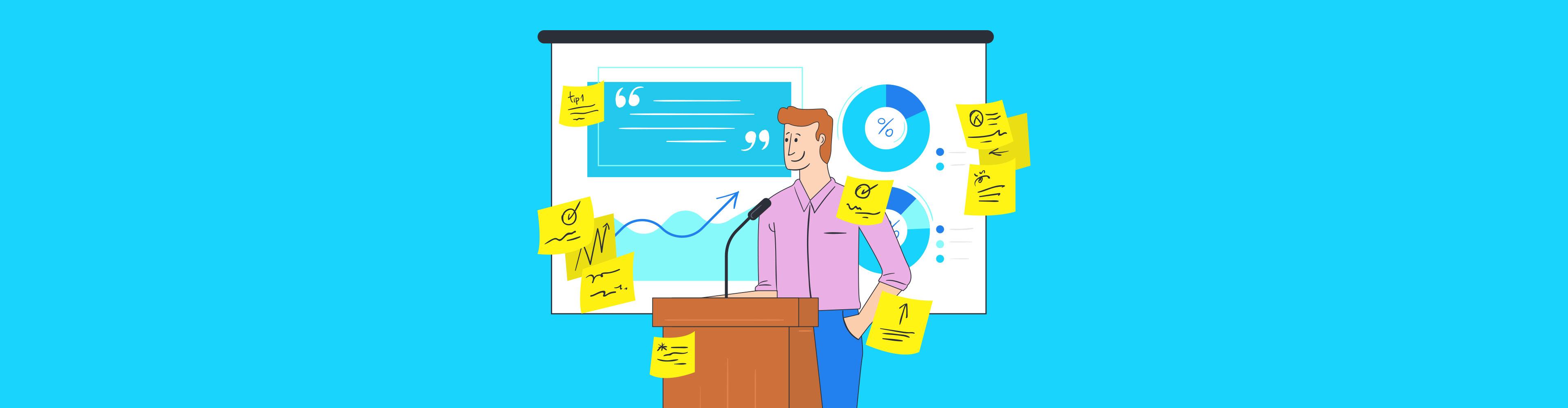 presentation tips - header wide