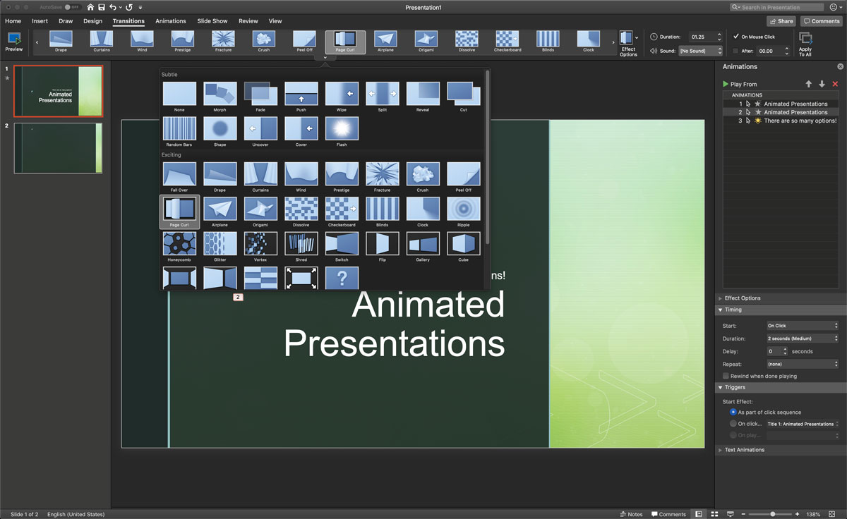 animated presentation software - powerpoint 2