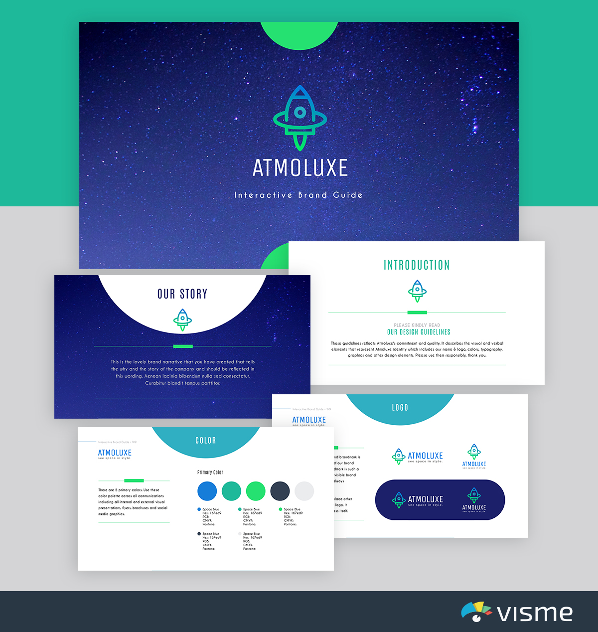 best presentation templates - atmoluxe brand guidelines visme