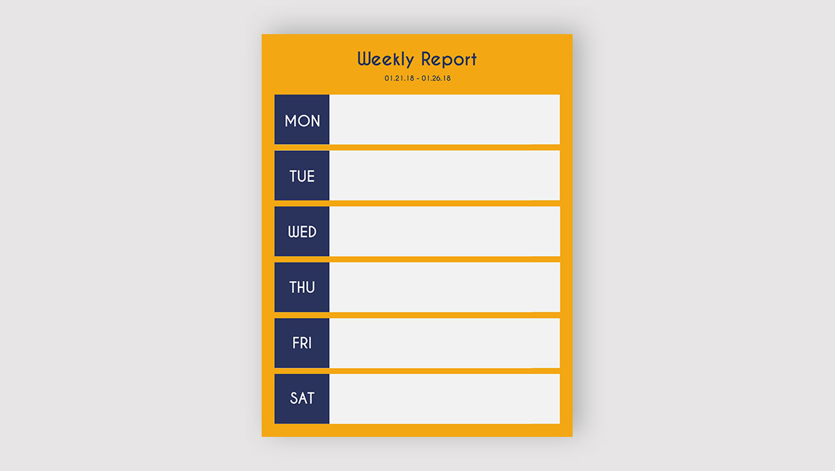 report cover page - know your report's format
