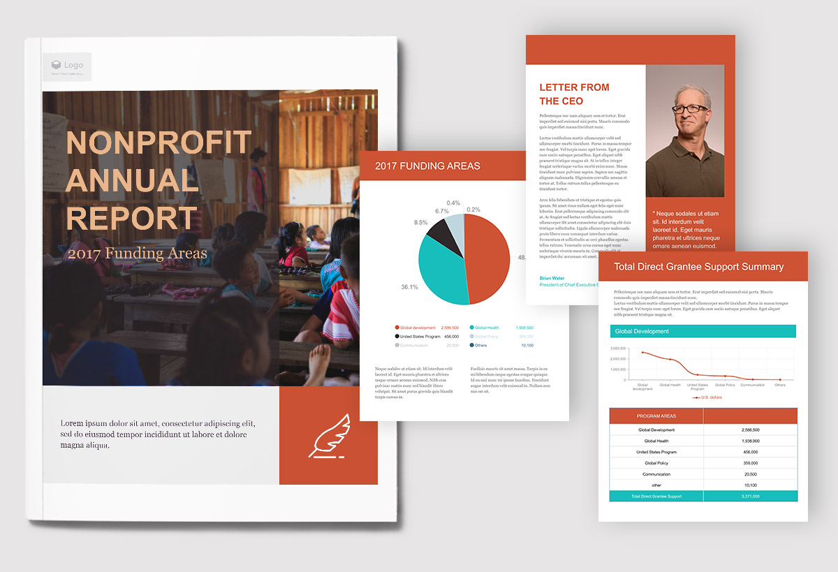 report cover page - use your branding