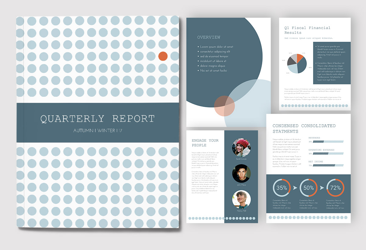 report cover page - use whitespace