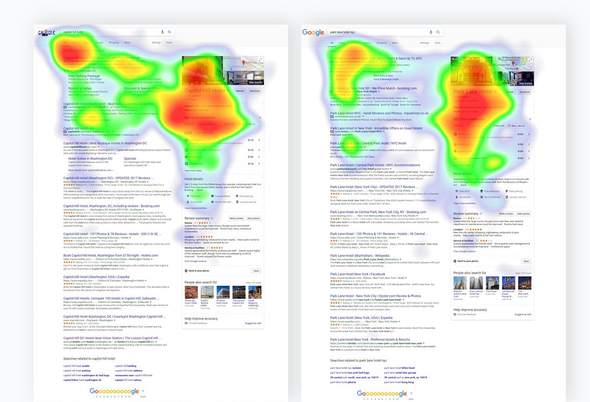 conversion-driven image seo - heatmaps