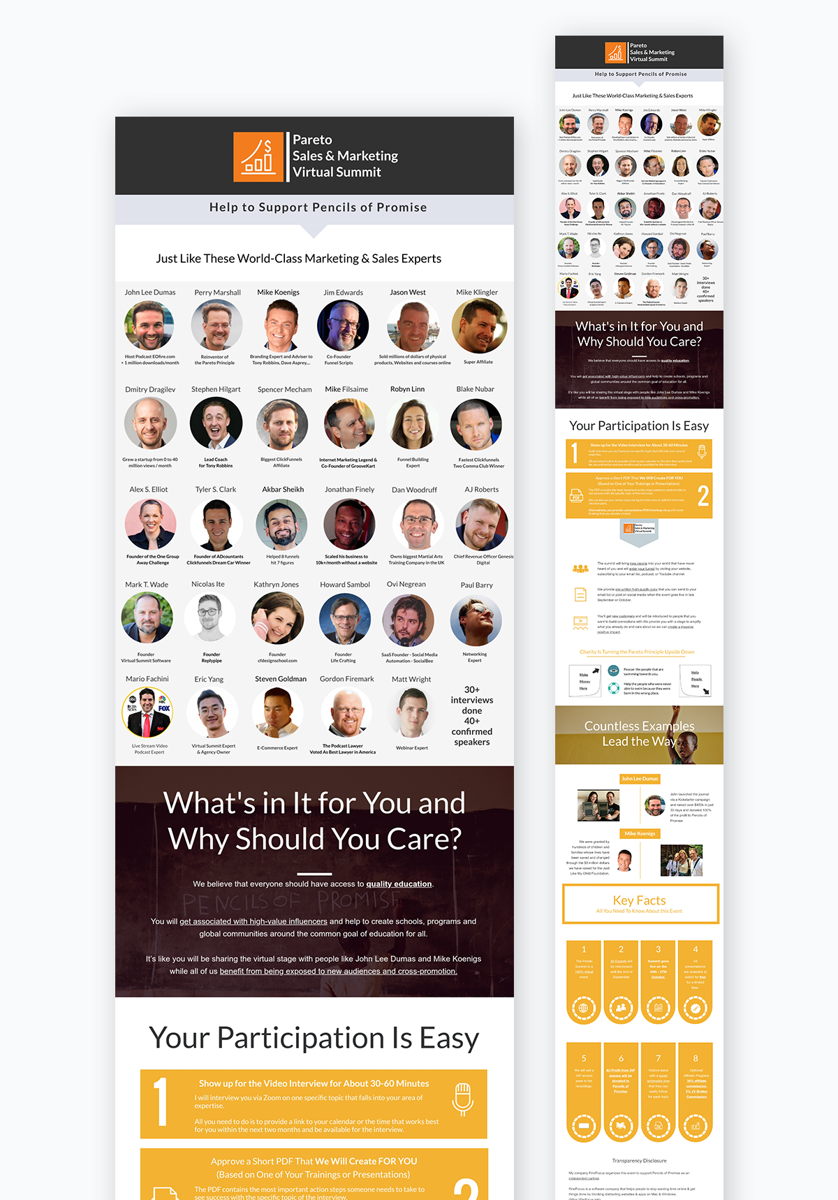 visme case study - speaker outreach infographic pitch