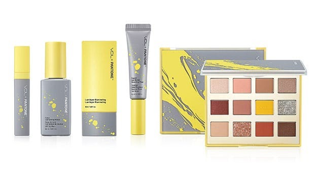 A makeup product line in the Pantone 2021 Colors of the Year.