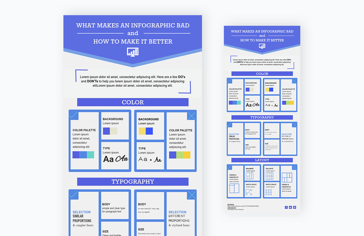 comparison chart - what makes an infographic better