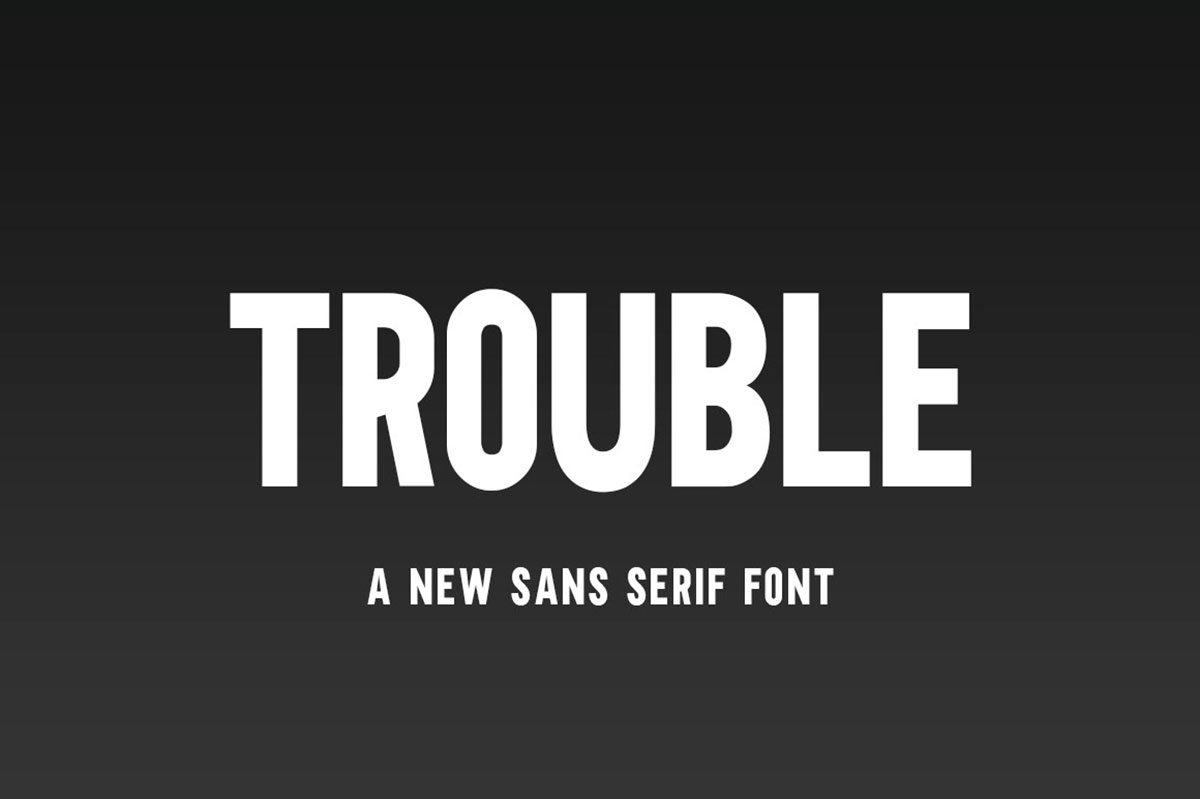 top fonts 2020 - trouble
