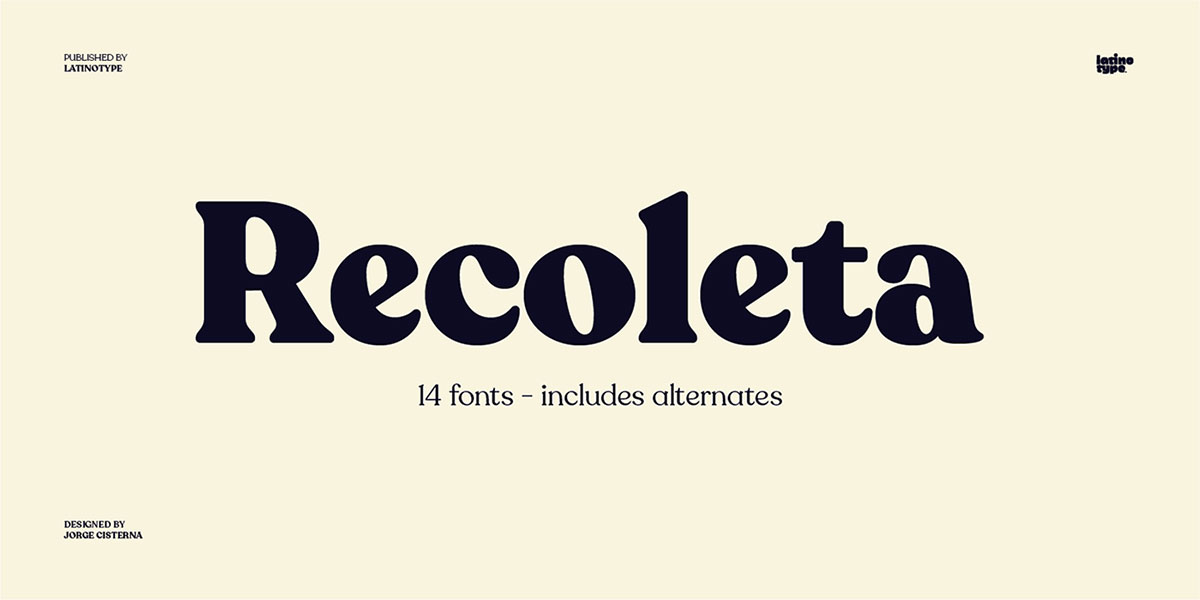 top fonts 2020 - recoleta