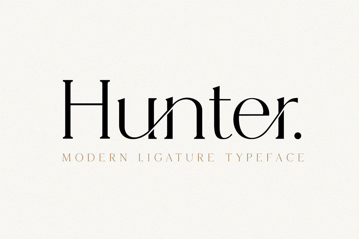 top fonts 2020 - hunter