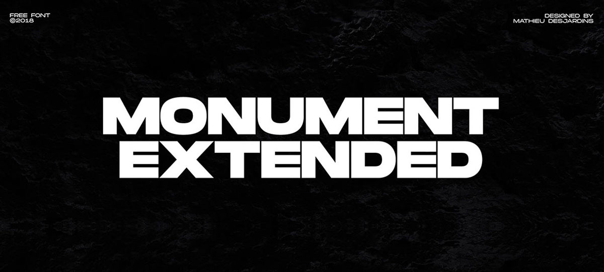 top fonts 2020 - monument extended