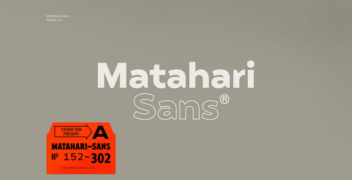 top fonts 2020 - matahari sans