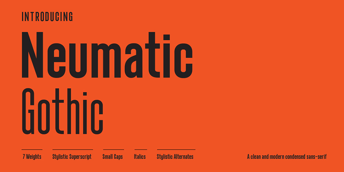 top fonts 2020 - neumatic gothic