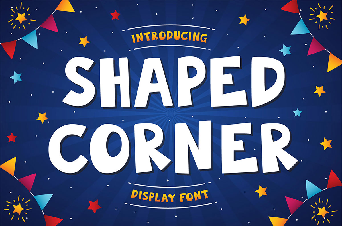 top fonts 2020 - shaped corner