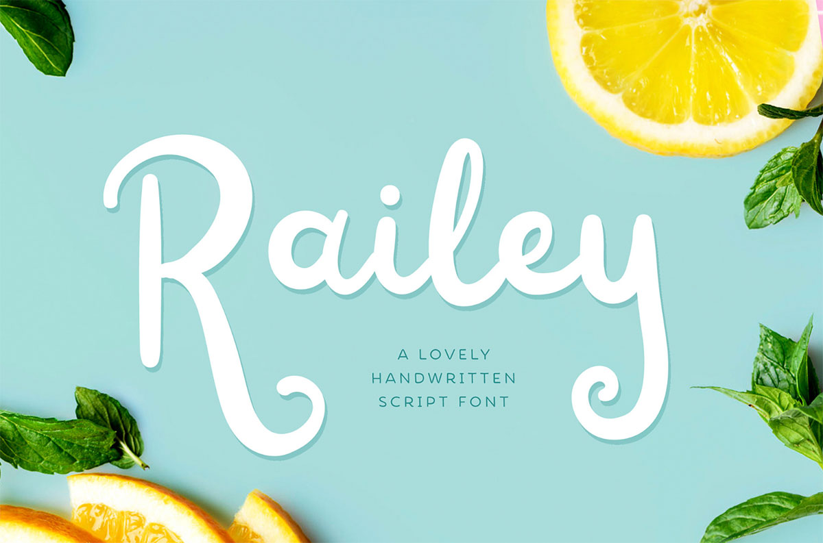 top fonts 2020 - railey