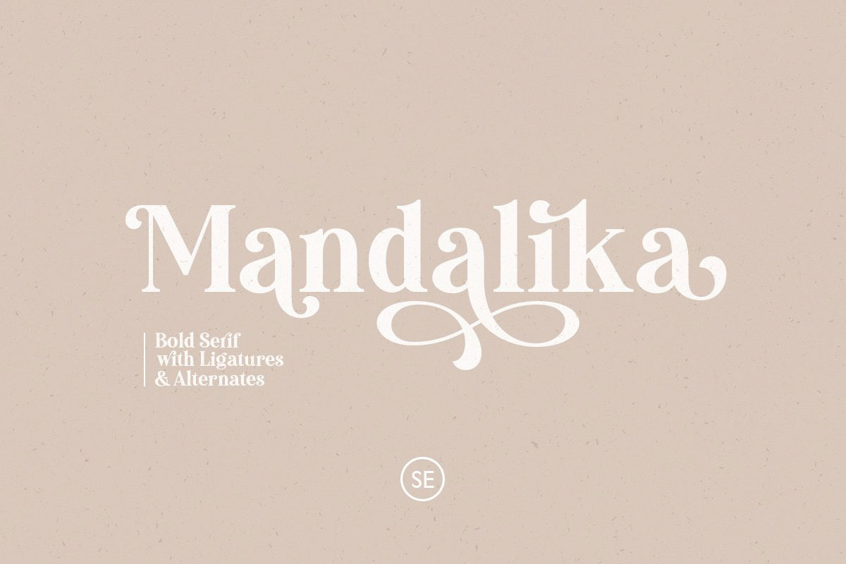 top fonts 2020 - mandalika