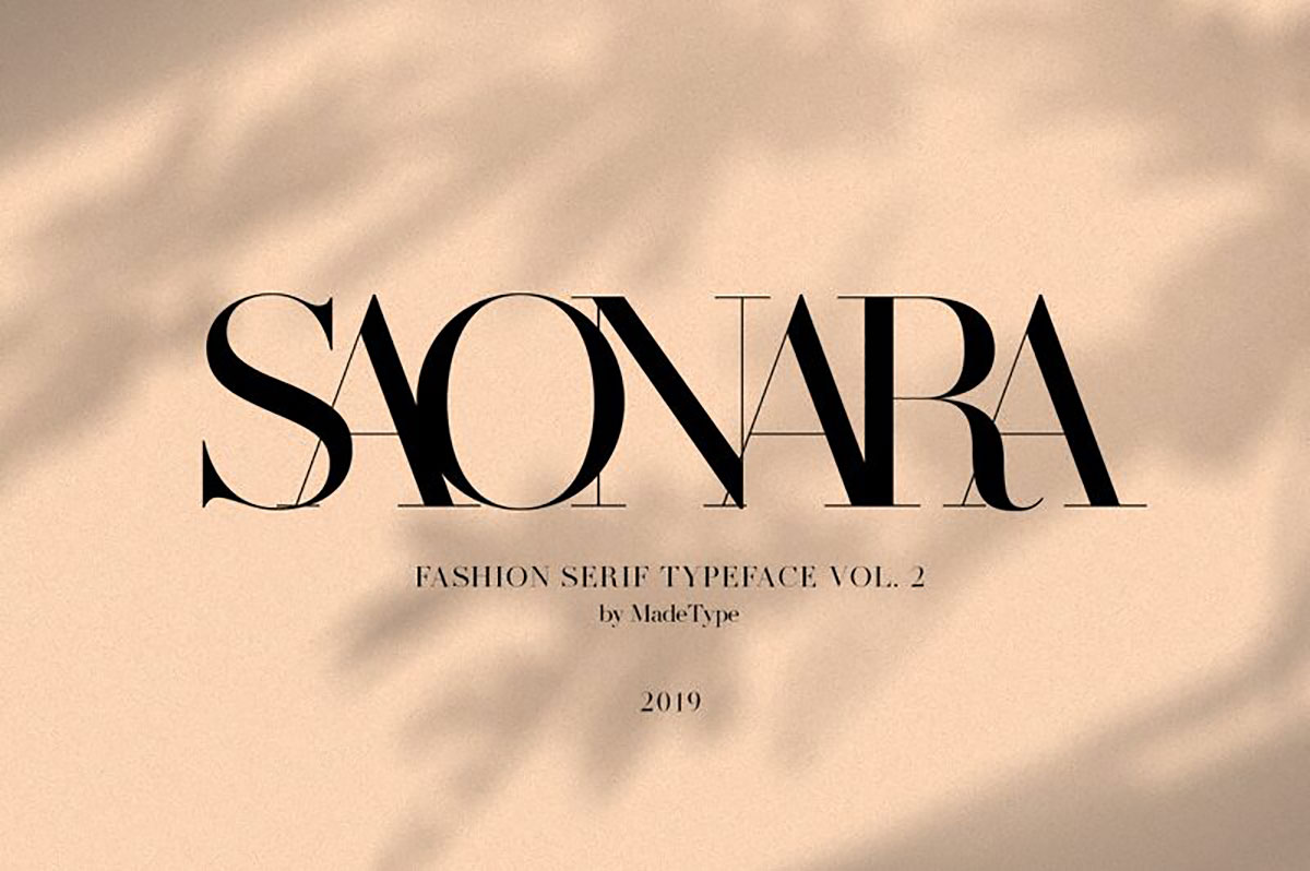 top fonts 2020 - saonara