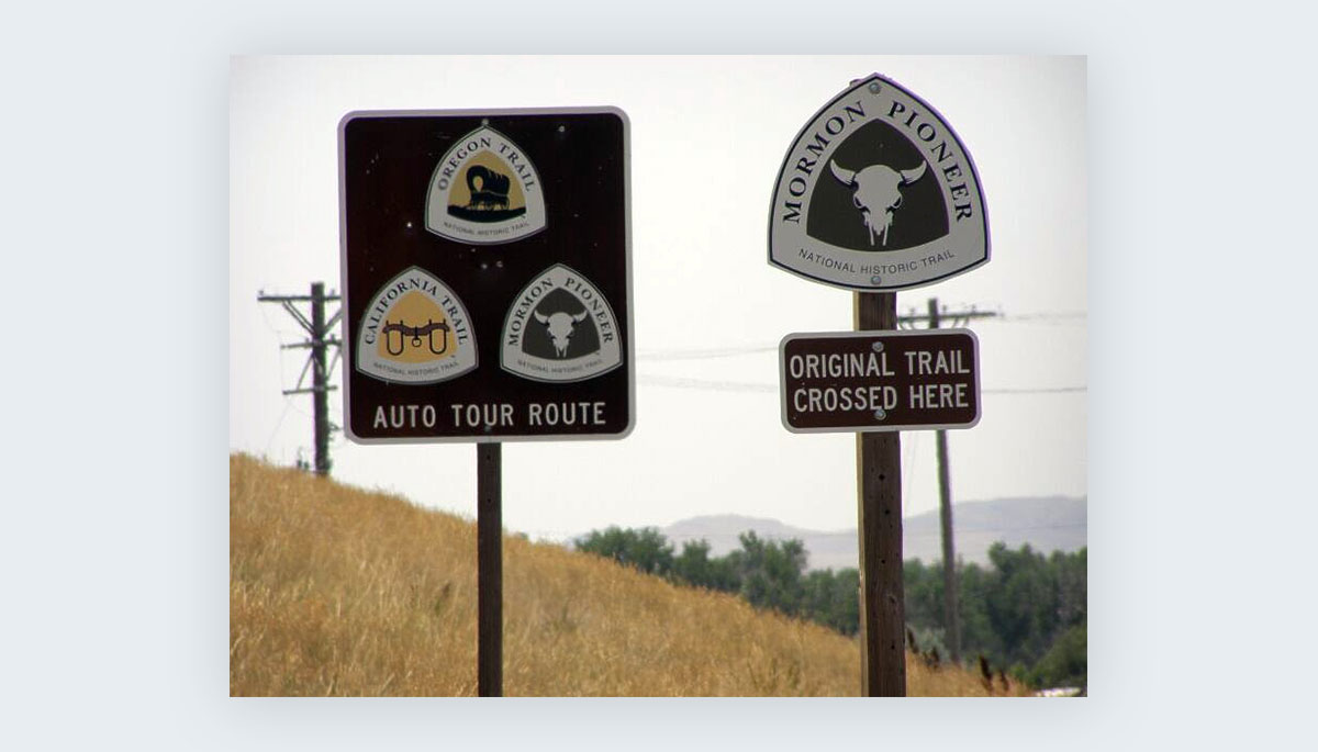 cool shapes - reuleaux triangle national trail signage