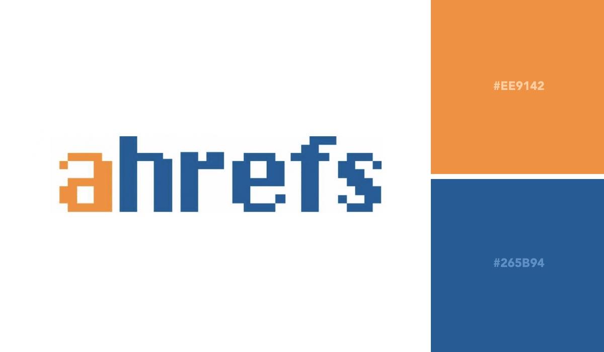 logo color schemes - ahrefs palette