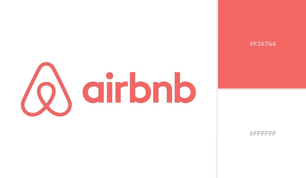 logo color schemes - airbnb palette
