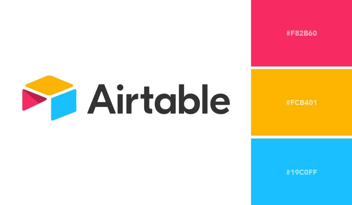 logo color schemes - airtable palette