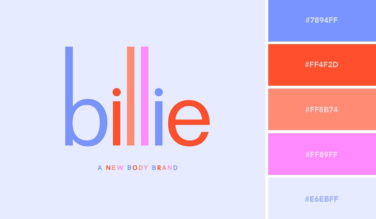 logo color schemes - billie palette