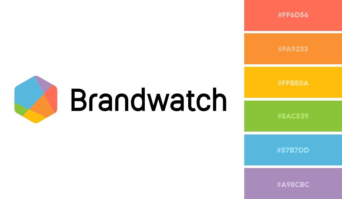 logo color schemes - brandwatch palette